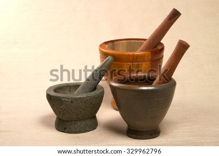 mortar and pestle different type