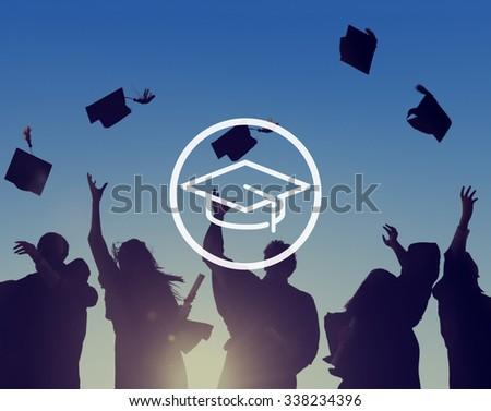 Mortar Board Education Knowledge Wisdom Graduation Concept - stock photo