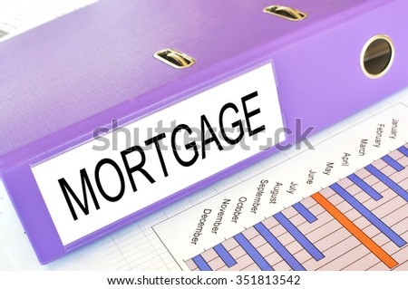 Mortgage folder on a market report