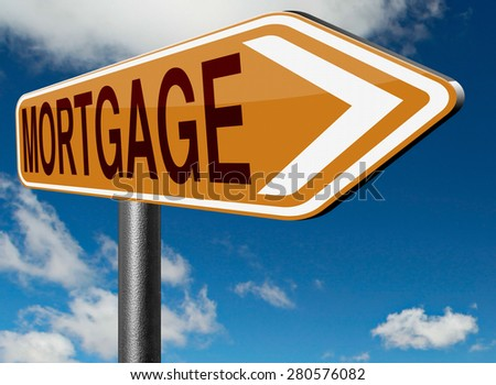 mortgage house loan paying money costs back to bank to avoid foreclosure and repossession problems  - stock photo