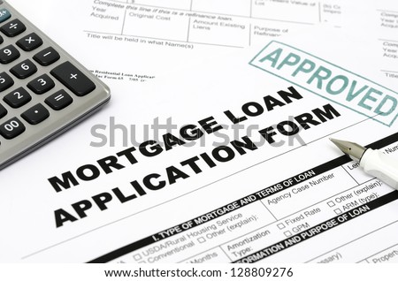 Mortgage loan application form - stock photo