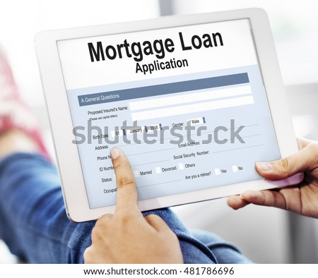 Mortgage Loan Application Form Tablet Technology Online Concept