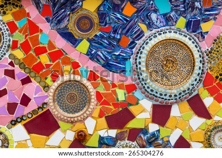 Mosaic background. - stock photo