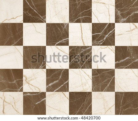 mosaic brown marble - stock photo