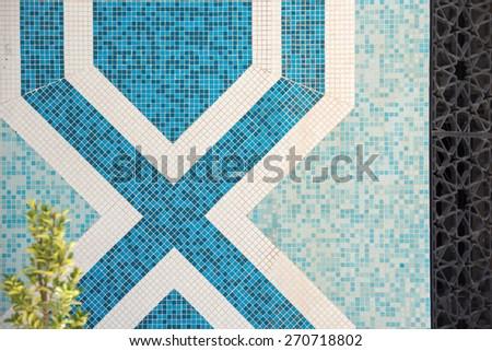 Mosaic ceramic pattern - stock photo
