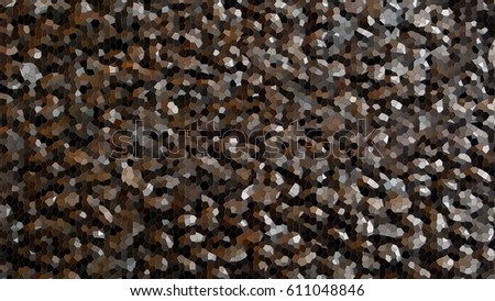 Mosaic from coffee beans, abstract background