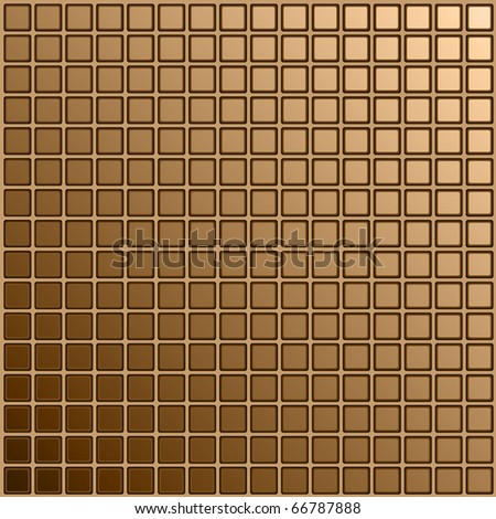 Mosaic made of a tile of the square form with the rounded of corners of brown color