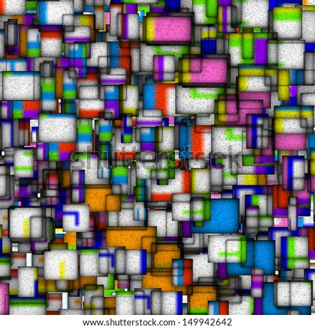 mosaic tile fragmented backdrop in multi color