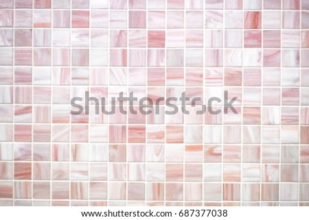 Mosaic Tiles Texture Bathroom Stock Photo Royalty Free 687377038