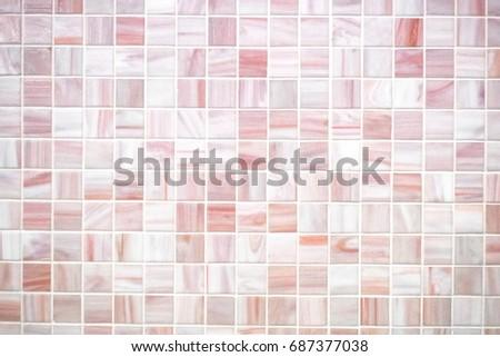 Mosaic Tiles Texture Bathroom Stock Photo Royalty Free 687377038