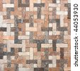 mosaic wall decoration textured tiled square floor - stock photo