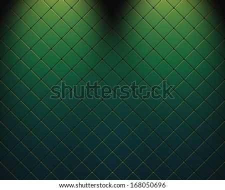 Mosaic with green and blue light intrusion