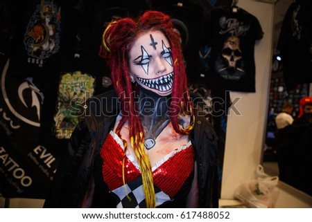 Stock images royalty free images vectors shutterstock for Tattoo freak costume