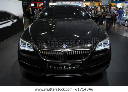 MOSCOW - AUG 26: BMW Gran Coupe at Moscow international motor show 2010 on August 26, 2010 in Moscow, Russia. - stock photo
