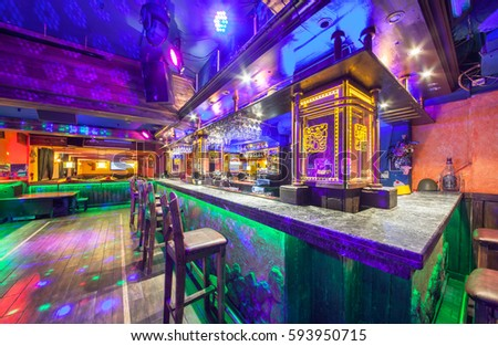 Moscow august 2014 interior mexican nightclub stock photo for Table dance near me