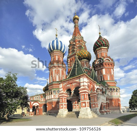 Moscow basilique  church on Red Square