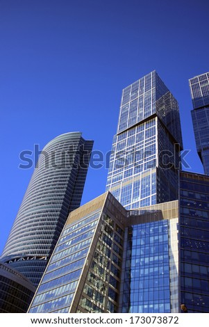 "MOSCOW - DECEMBER 16: Buildings of Business Center ""Moscow City"" on December 16, 2012 in Moscow"