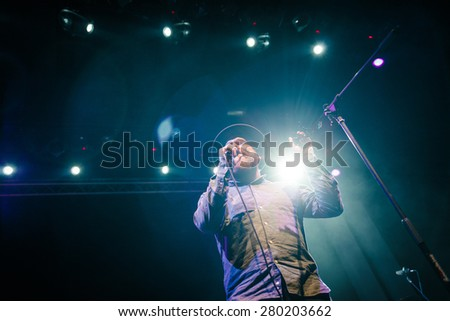 MOSCOW - 12 FEBRUARY, 2015 : Alex Clare performing live in Russia - stock photo