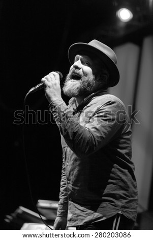 MOSCOW - 12 FEBRUARY, 2015 : Alex Clare performing live in Russia at Yotaspace nightclub - stock photo