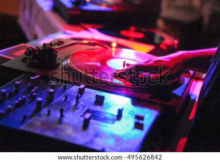 Hip hop dj stock images royalty free images vectors for Cool house music