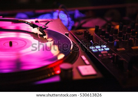 dj playing track nightclub party dj stock photo 89433262 moscow 26 2016 hip hop music party in night club dj