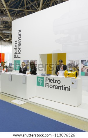 MOSCOW-JUNE 22:The exposition of Italian companies producing gas pressure regulators at the INTERNATIONAL OIL & GAS EXHIBITION on June 22, 2011 in Moscow