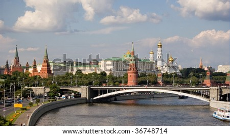 moscow kremlin at the summer - stock photo