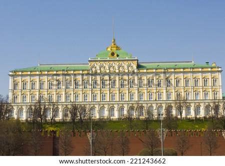 Moscow, Kremlin palace inside Kremlin fortress. - stock photo