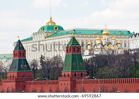 Moscow Kremlin Wall - stock photo