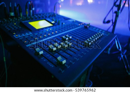 MOSCOW - 30 NOVEMBER2016 Audio mixer for musician on stage.Pro sound & Pro-audio Stock Images Royalty-Free Images u0026 Vectors | Shutterstock azcodes.com