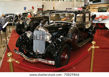 MOSCOW - OCTOBER 08: Mercedes-Benz 200 Landau 1935 at the Moscow Exhibition of technical antiques on October 08, 2010 in Moscow, Russia. - stock photo