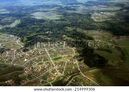 Moscow region, aerial view - stock photo