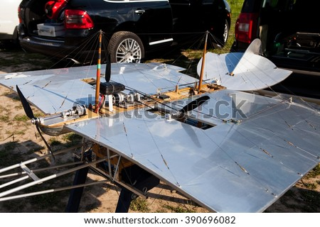 MOSCOW REGION, RUSSIA - MAY 24, 2014: Radio control Mozhaisky Airplane