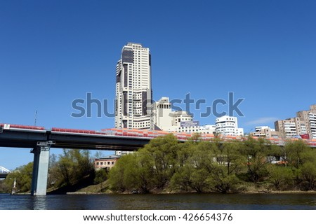 MOSCOW, RUSSIA - APRIL 25, 2014:The district Khoroshevo-Mnevniki in the North-Western district of Moscow.