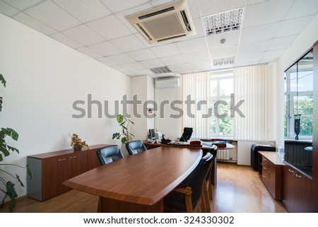 MOSCOW, RUSSIA - August 11, 2015 - Empty office interior