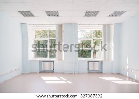 MOSCOW, RUSSIA - August 4, 2015 - Empty office interior - stock photo