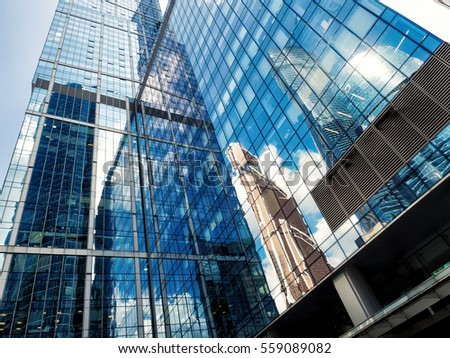 Moscow, Russia - August 02, 2016: International Business Center - Moskva City