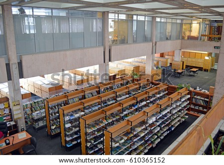 MOSCOW, RUSSIA - FEBRUARY, 2017: Open Access Hall of Central Scientific Agricultural Library (CSAL) in Moscow