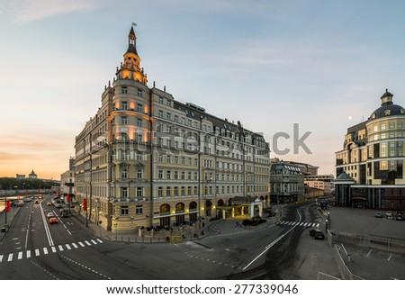 Moscow. Russia. Hotel Baltschug Kempinski. - stock photo