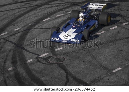 MOSCOW, RUSSIA - JULY 12: Amazing Moscow City Racing Show, Moscow on 12 July 2014 - stock photo