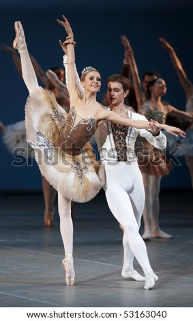 "MOSCOW, RUSSIA - March 01: Show of ballet ""Moscow"". March 01, 2009 in Moscow, Russia."