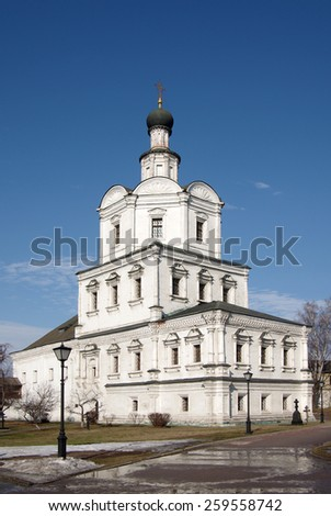 MOSCOW, RUSSIA - March 09, 2015: The Church of Michael the Archangel in Andronikov Monastery