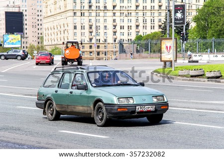 MOSCOW, RUSSIA - MAY 6, 2012: Motor car Ford Sierra in the city street.