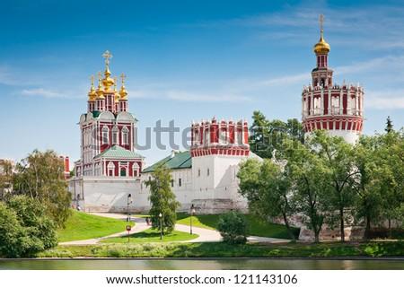 Moscow, Russia - Novodevichy Monastery - stock photo