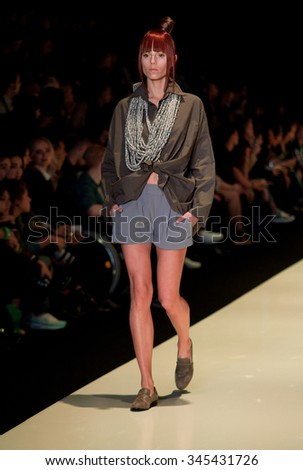 MOSCOW, RUSSIA - OCTOBER 23: Moscow Fashion Week, Designers present their collections for spring - summer 2016 on October 23, 2015 in Moscow, Russia.