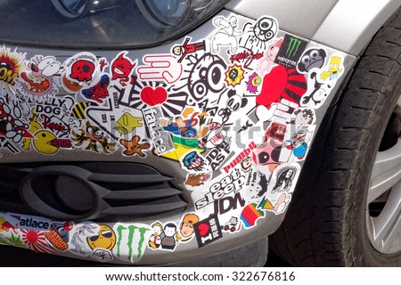 Car Sticker Stock Images RoyaltyFree Images Vectors Shutterstock - Modern car decal sticker girl