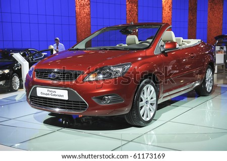 MOSCOW, RUSSIA - SEPTEMBER 2: Ford Focus Coupe-Cabriolet presented at the Moscow International Autosalon on September 2, 2008 in Moscow.