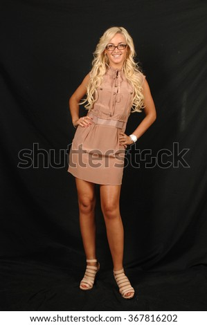 MOSCOW, RUSSIA - September 11, 2010: Russian celebrity TV presenter Olga Buzova poses for a portrait - stock photo
