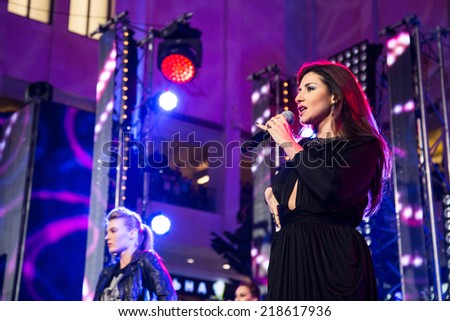 MOSCOW, RUSSIA, September, 20:Singer Jasmine. Opening Ceremony Vegas Shopping Mall, 20, 2014 at Vegas  Center in Moscow, Russia - stock photo