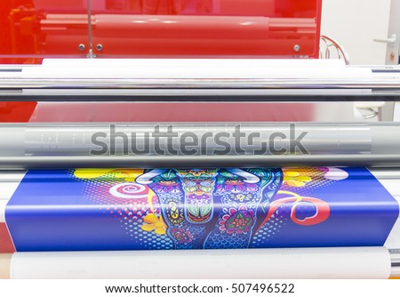 MOSCOW-SEPTEMBER 29, 2016: Large format printers Japanese company Mimaki at the International Trade Fair REKLAMA